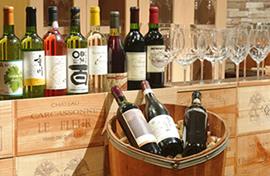 写真:こだわりのワインリスト