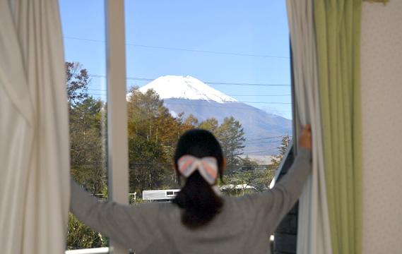 写真:お部屋からの富士山