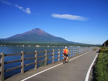 写真:サイクリングロード